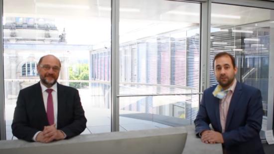 Martin Schulz und Johannes Schraps