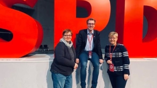 Delegation des SPD-Unterbezirks Northeim-Einbeck auf dem Bundesparteitag 2019 der SPD.
