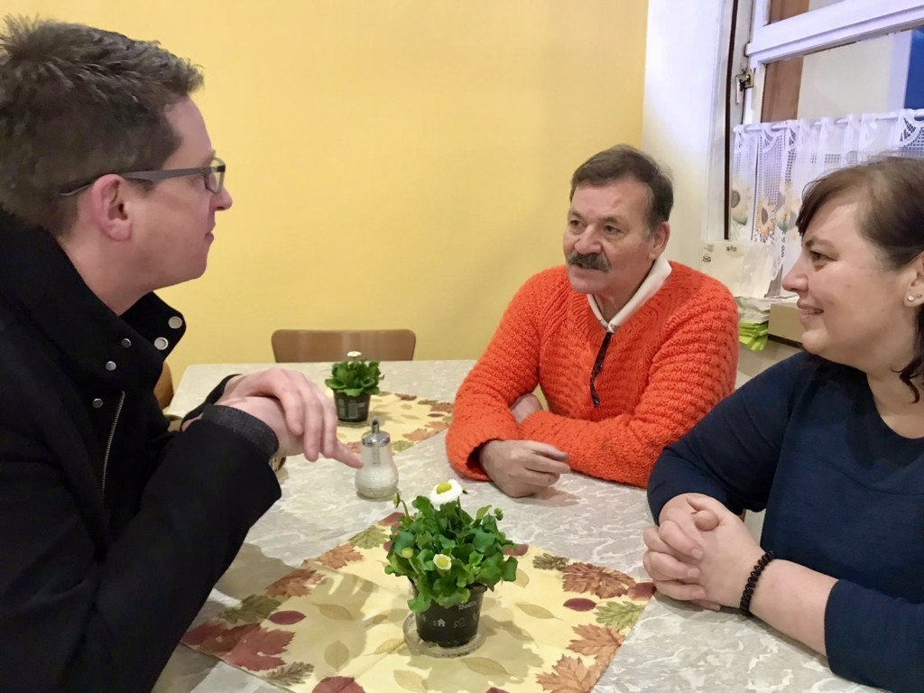 Sven Borchert mit Michalakis und Marion Antoniades